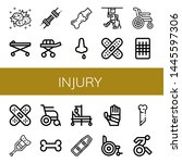 Set Of Injury Icons Such As...