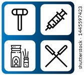 set of therapy icons such as... | Shutterstock .eps vector #1445597423