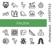 set of fauna icons such as... | Shutterstock .eps vector #1445597513