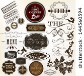 collection of vector labels in... | Shutterstock .eps vector #144560594