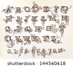 decorative  english letters for ... | Shutterstock .eps vector #144560618