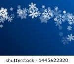 Snow Flakes Falling Macro...