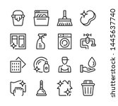 cleaning line icons set. modern ...   Shutterstock .eps vector #1445637740