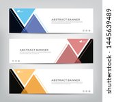 abstract web banner template ...   Shutterstock .eps vector #1445639489