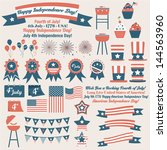 american july 4th independence... | Shutterstock .eps vector #144563960