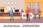 porter man character carry... | Shutterstock .eps vector #1445640383