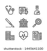 medical center vector line... | Shutterstock .eps vector #1445641100