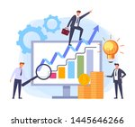 business solution successful...   Shutterstock .eps vector #1445646266