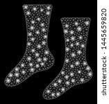 glowing mesh socks with glitter ...   Shutterstock .eps vector #1445659820
