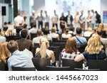young business team receiving... | Shutterstock . vector #1445667023