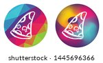 rainbow polygon and abstract... | Shutterstock .eps vector #1445696366