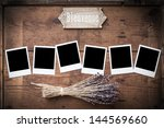 Photo Frame On Wood With...