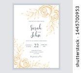 floral vintage wedding...   Shutterstock .eps vector #1445700953