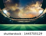 lights at night and stadium 3d... | Shutterstock . vector #1445705129