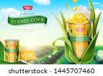 premium kernel corn can ads in...   Shutterstock .eps vector #1445707460