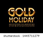 vector elite emblem gold... | Shutterstock .eps vector #1445711279
