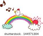vector illustration of a bird... | Shutterstock .eps vector #144571304