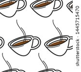 hot drink singapore coffee or... | Shutterstock .eps vector #1445715470