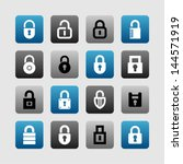 lock and security icons | Shutterstock .eps vector #144571919