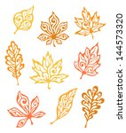 Collection Of Autumn Decorativ...