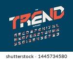vector of stylized modern font... | Shutterstock .eps vector #1445734580