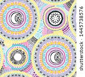 doodle seamless pattern with... | Shutterstock .eps vector #1445738576
