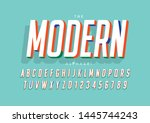 vector of stylized modern font... | Shutterstock .eps vector #1445744243