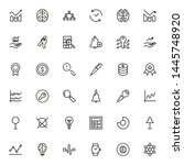 planning icon set. collection... | Shutterstock .eps vector #1445748920