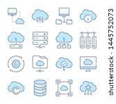 cloud computing  computer... | Shutterstock .eps vector #1445752073