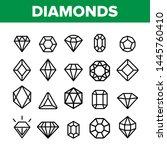 diamonds  gems vector thin line ... | Shutterstock .eps vector #1445760410