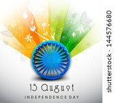 creative indian independence... | Shutterstock .eps vector #144576680