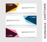vector abstract web banner... | Shutterstock .eps vector #1445773949