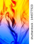Abstract smoke in colorful background