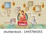 3d Wallpaper  Buddha On Lotus...