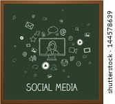 vector illustration of social... | Shutterstock .eps vector #144578639