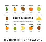 fruit business without gmo... | Shutterstock .eps vector #1445815046