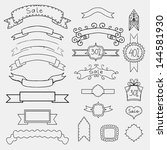set of monochrome banners and...   Shutterstock .eps vector #144581930