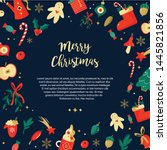 christmas background with...   Shutterstock .eps vector #1445821856