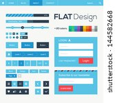 flat web and mobile design... | Shutterstock .eps vector #144582668