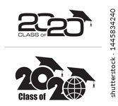 class of 2020 with graduation... | Shutterstock .eps vector #1445834240