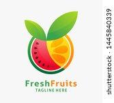 logo design of organic fresh... | Shutterstock .eps vector #1445840339