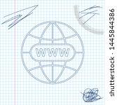 go to web line sketch icon...