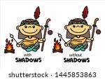 Illustration Of Funny Native...