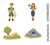 vector design of zoo and park...   Shutterstock .eps vector #1445863043