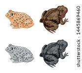 vector design of wildlife and... | Shutterstock .eps vector #1445869460