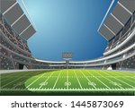 american football arena field... | Shutterstock .eps vector #1445873069