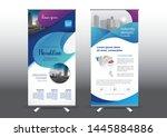 rollup template vector... | Shutterstock .eps vector #1445884886