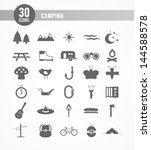 30 camping icons | Shutterstock .eps vector #144588578