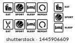 eat basketball sleep repeat eat ... | Shutterstock .eps vector #1445906609