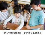 primary school student who...   Shutterstock . vector #1445913566